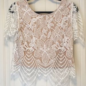 Express lace top size XS